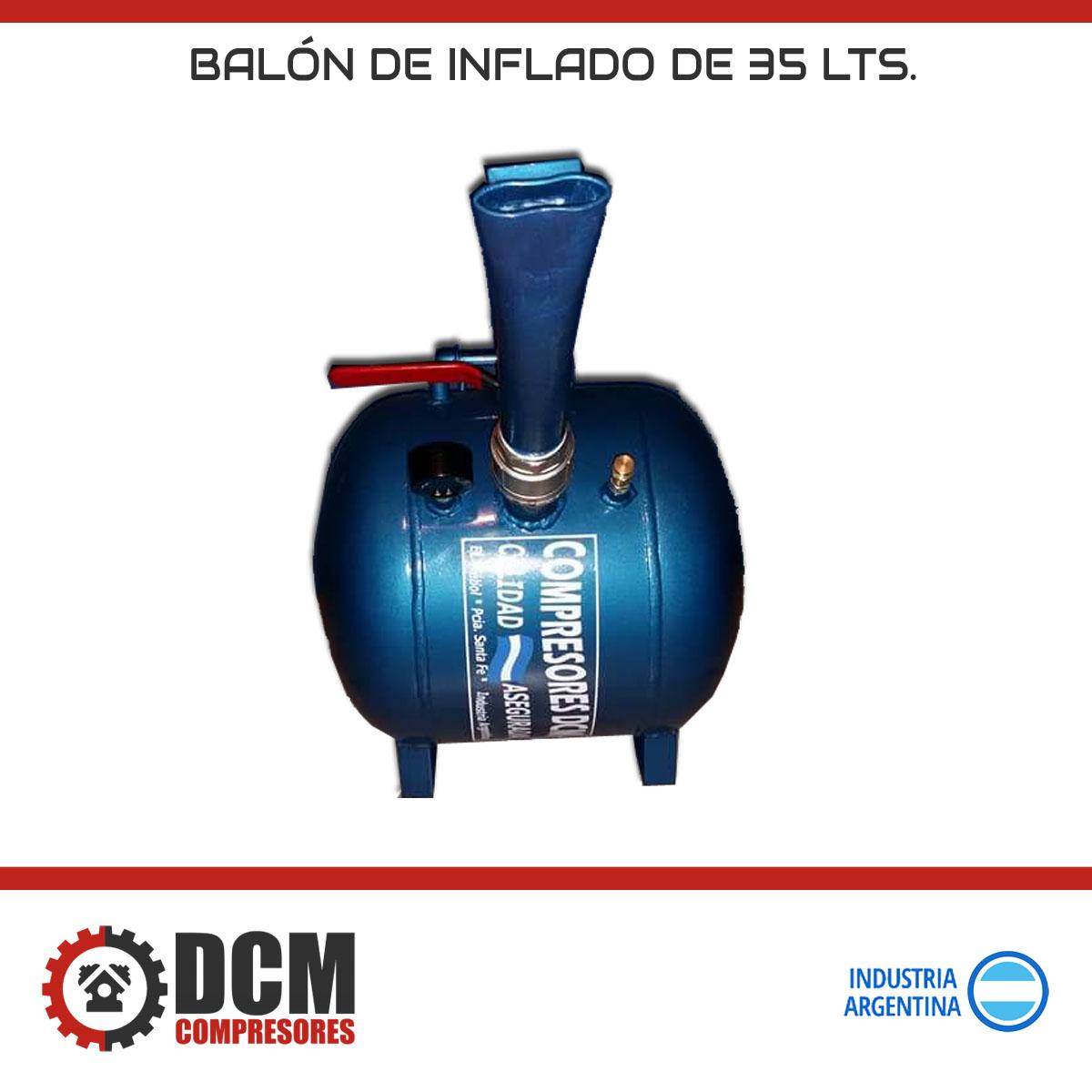 Balón de inflado de 35 lts