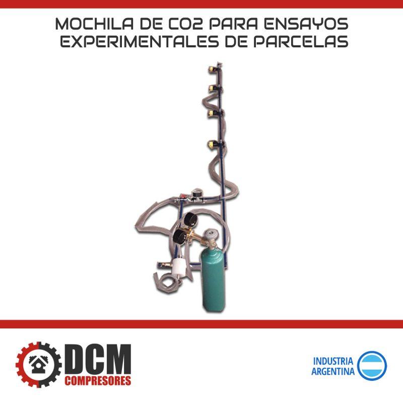 Mochila de CO2 para ensayos experimentales de parcelas DCM
